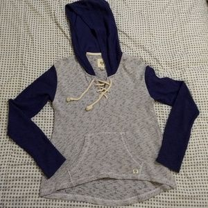 EUC Billabong lightweight blue marble hoodie